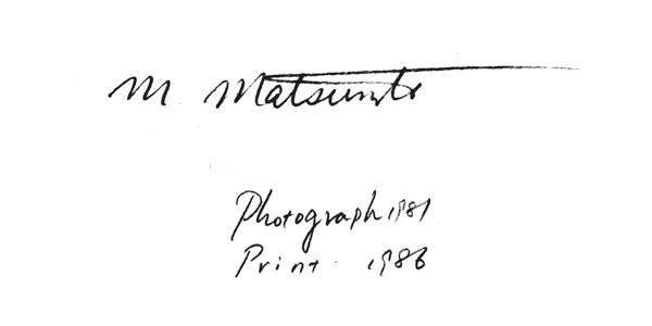photograph sign matsumoto michiko